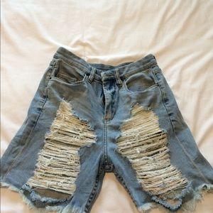 64a2b213bc8dc Blank NYC Shorts - BLANKNYC Boyfriend Shredded Denim Short